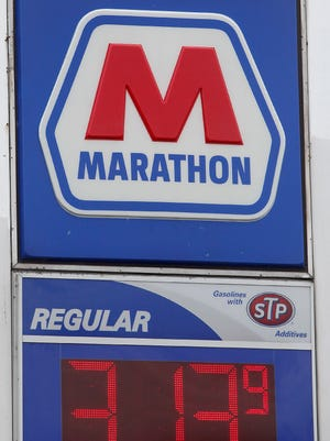 VP at Tillotson Avenue and White River Boulevard had their gas set at $3.13/gallon Tuesday afternoon.