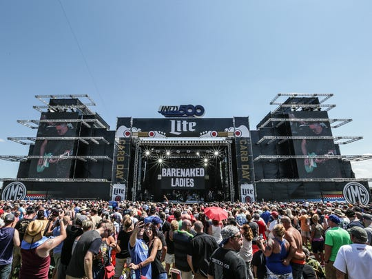 Barenaked Ladies perform during Miller Lite Carb Day at Indianapolis Motor Speedway on Friday May 26, 2017.