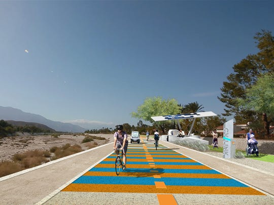 Rendering of the CV Link recreation path.
