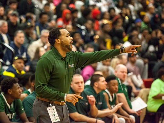 New Haven coach Tedaro France II yells to players during
