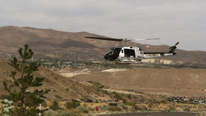 A female hiker was airlifted today with an undisclosed injury more than a mile up the Hunter Creek trailhead west of Reno after an undisclosed injury, Washoe County Sheriff's Office spokesman Bob Harmon said.