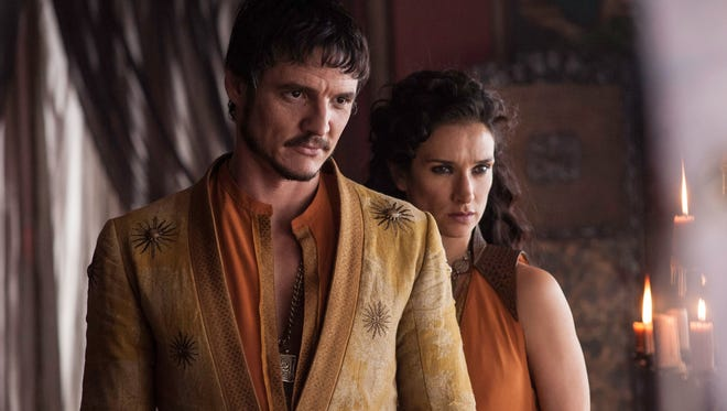 On 'Game of Thrones,' Pedro Pascal played flashy Dornish prince Oberyn Martell, whose death led his lover (Indira Varma) thirsty for revenge against the Lannisters.