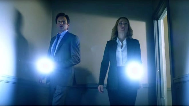 "Agents Fox Mulder (David Duchovny) and Dana Scully (Gillian Anderson) return in a revival of their cult favorite show, ""The X-Files."""