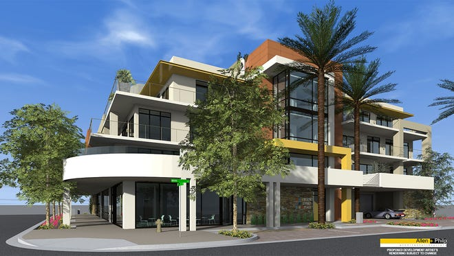 A rendering of Main Street Place. Half of the homes starting at $800,000 in the new development have already sold.