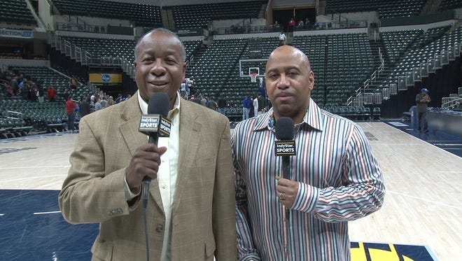 IndyStar's Clifton Brown, left, is transitioning back to his role as Enterprise reporter and J. Michael, right, is the new IndyStar Pacers Insider.