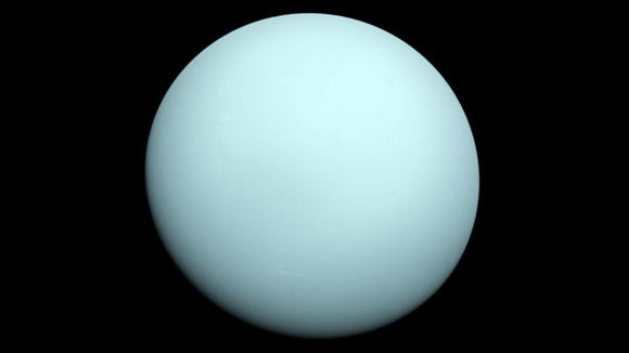 Uranus is the seventh planet from our Sun in the solar system.