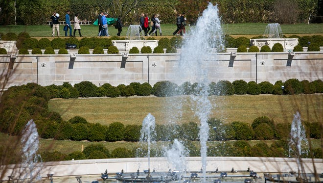 Longwood Garden's Main Fountain Garden nears completion with a scheduled re-opening to the public on May 27th.