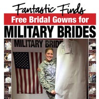 Fantastic Finds bridal shop is offering free bridal gowns for military brides May 23 and May 24.