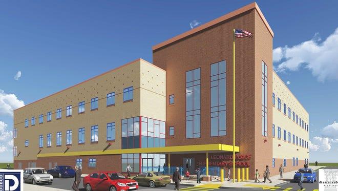 Rendering of Leonard Place Elementary School