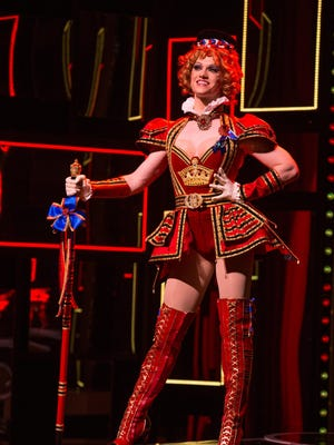 """Ricky Schroeder performs as one of the Angels in the finale of """"Kinky Boots,"""" part of the Broadway in Cincinnati Series at the Aronoff Center."""