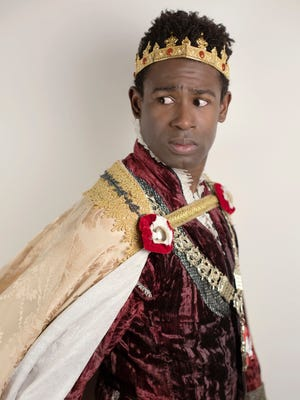 "Darnell Pierre Benjamin stars as King Henry VI in Cincinnati Shakespeare Company's production of William Shakespeare's ""Henry VI: The Wars of the Roses, Part 2."""