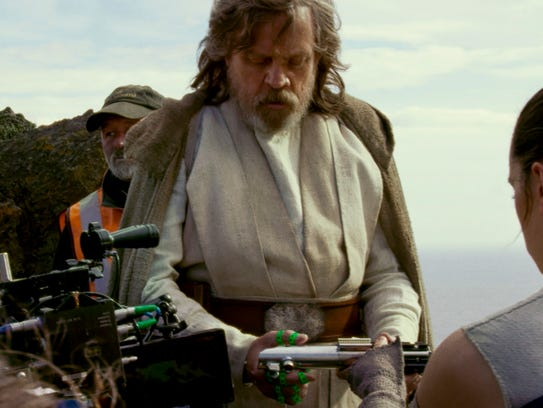 "Mark Hamill films a scene from ""Star Wars: The Last"
