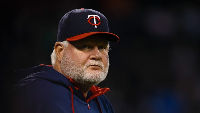Ron Gardenhire as Twins manager during a game against the Tigers at Comerica Park in 2014.