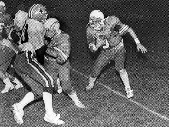 An unknown Philo ball carrier looks for running room against Crooksville in an undated Times Recorder file photo.
