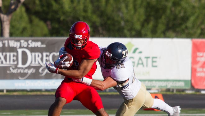 Dixie State football takes on South Dakota School of Mines Saturday, Sept. 9, 2016.