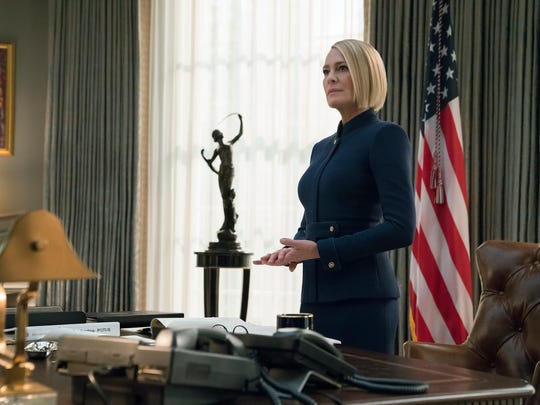 "Robin Wright is the sole lead in the last season of Netflix's ""House of Cards,"" which wraps up without original star Kevin Spacey."