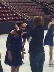 Padua's Holly Jones '20 competed in the Junior World Qualifier in Connecticut with her Synchronized Skating Team.
