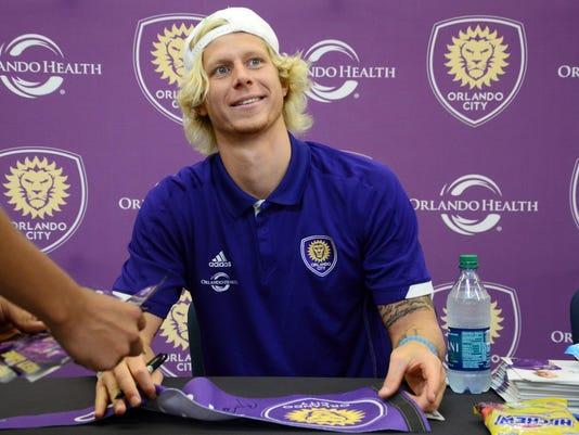 Orlando City Soccer Players Visit Brevard