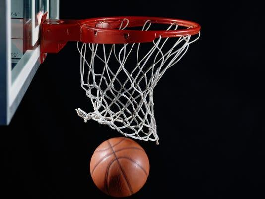Generic Stock Image - Basketball in Hoop