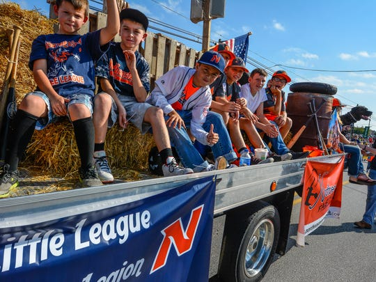 The Northeastern 8-10 Little League team is shown here on a float during the 2017 Manchester-Mount Wolf Halloween parade. Earlier that summer, the Manchester team won a state crown. Teams in Pennsylvania won't have that same opportunity in 2020. Section and state tournaments in Pennsylvania have been canceled because of the COVID-19 pandemic.