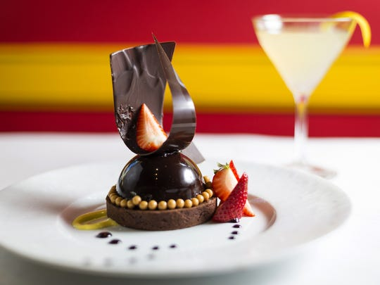 Photos by Sam Greene/The Enquirer A chocolate tarte