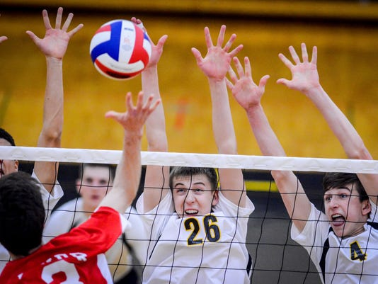 Dover at Red Lion boys' volleyball