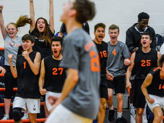 Dallastown at York Suburban boys' volleyball