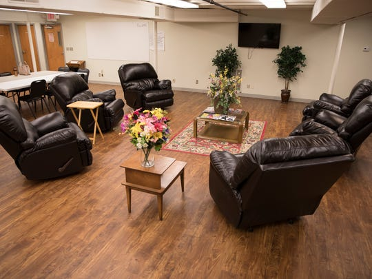 A large front room will provide space where they can hang out, complete activities, and meet for support group during the week.