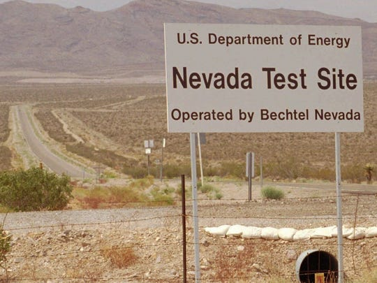 A road leading into the Nevada Test Site in this May