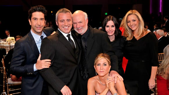 Hint: Director James Burrows, third from left, is not