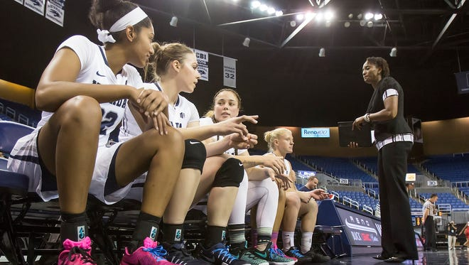 """The Wolf Pack women's basketball team has started the """"As One"""" movement this year."""