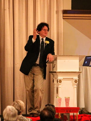 Marc Lapadula, who teaches at Yale University, spoke Wednesday in Livonia about films that changed America. His talk was the first of the season for the Livonia Town Hall organization.
