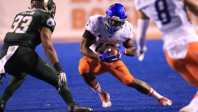 Jeremy McNichols has been key to Boise State's ascent to the No. 10 spot in the College Football Computer Composite.    ORG XMIT: USATSI-270454 ORIG FILE ID:  20161015_ads_sn7_334.JPG