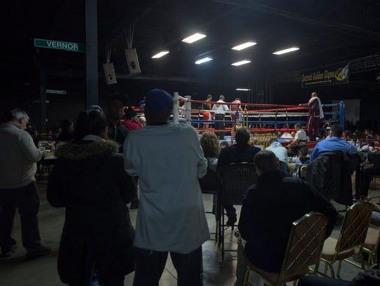 Bert's Warehouse Theater in Detroit is packed for the 2018 Detroit Golden Gloves tournament on Sunday.