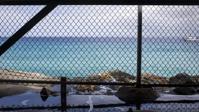 Leftover brine from a Catalina Island, Calif., desalination plant is returned to the ocean. Expensive, energy-intensive desalination is something Arizona may consider as it lays out its water plan.