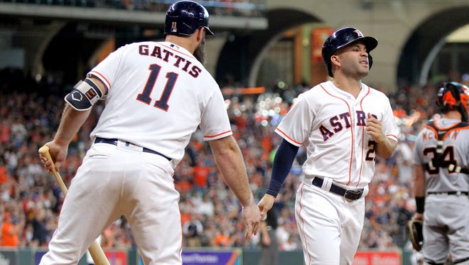The defending World Series champion Houston Astros play at Coors Field against the Rockies on Wednesday.