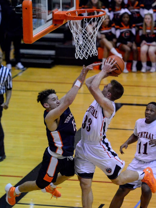 PHOTOS: York High vs Central York boys basketball