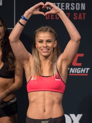 39. Paige VanZant: The UFC strawweight fighter went 1-1 this fiscal year, a win over Bec Rawlings (she won performance of the night) before headlining her first card, a first-round loss to Michelle Waterson.