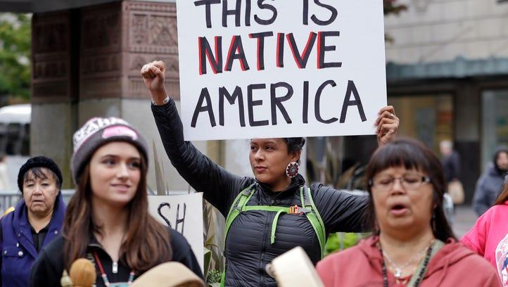 This October 2015 file photo shows Ruth Sims, a Navajo/Oglala