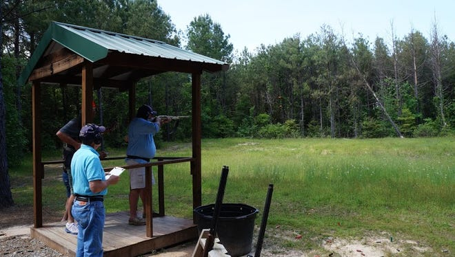 More than 55 shooters participated in the event to benefit Shriners.