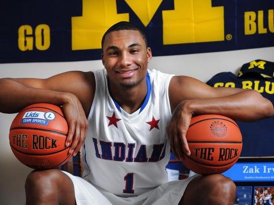 Mr. Basketball winner is Zak Irvin of Hamilton Southeastern