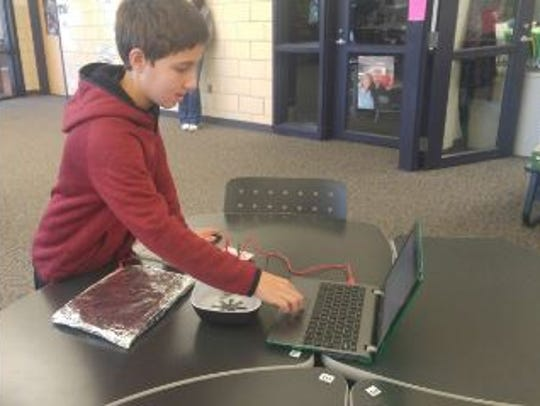 Students can use a Hummingbird Robotics Kit to create