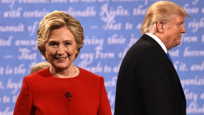 Hillary Clinton and Donald Trump at the first debate in Hempstead, N.Y., on Sept. 26, 2016.