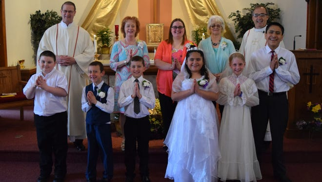 First Holy Communion at Holy Name of Mary.