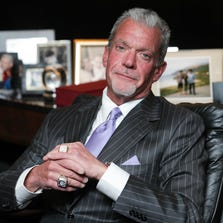 Indianapolis Colts owner Jim Irsay in his office, at the Indiana Farm Bureau Football Center.