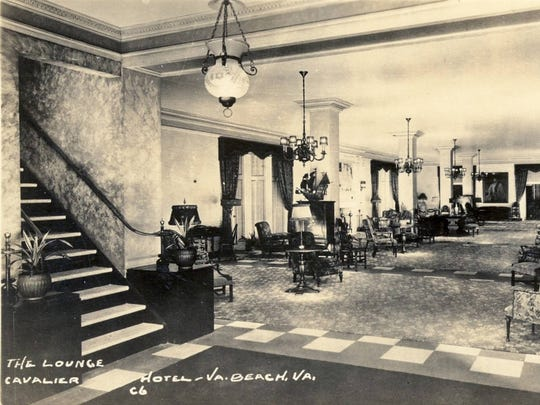 The original Raleigh Room at The Cavalier Hotel.