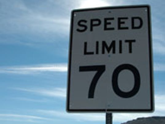 70-mph speed limit signed into Speed Limit Sign 70