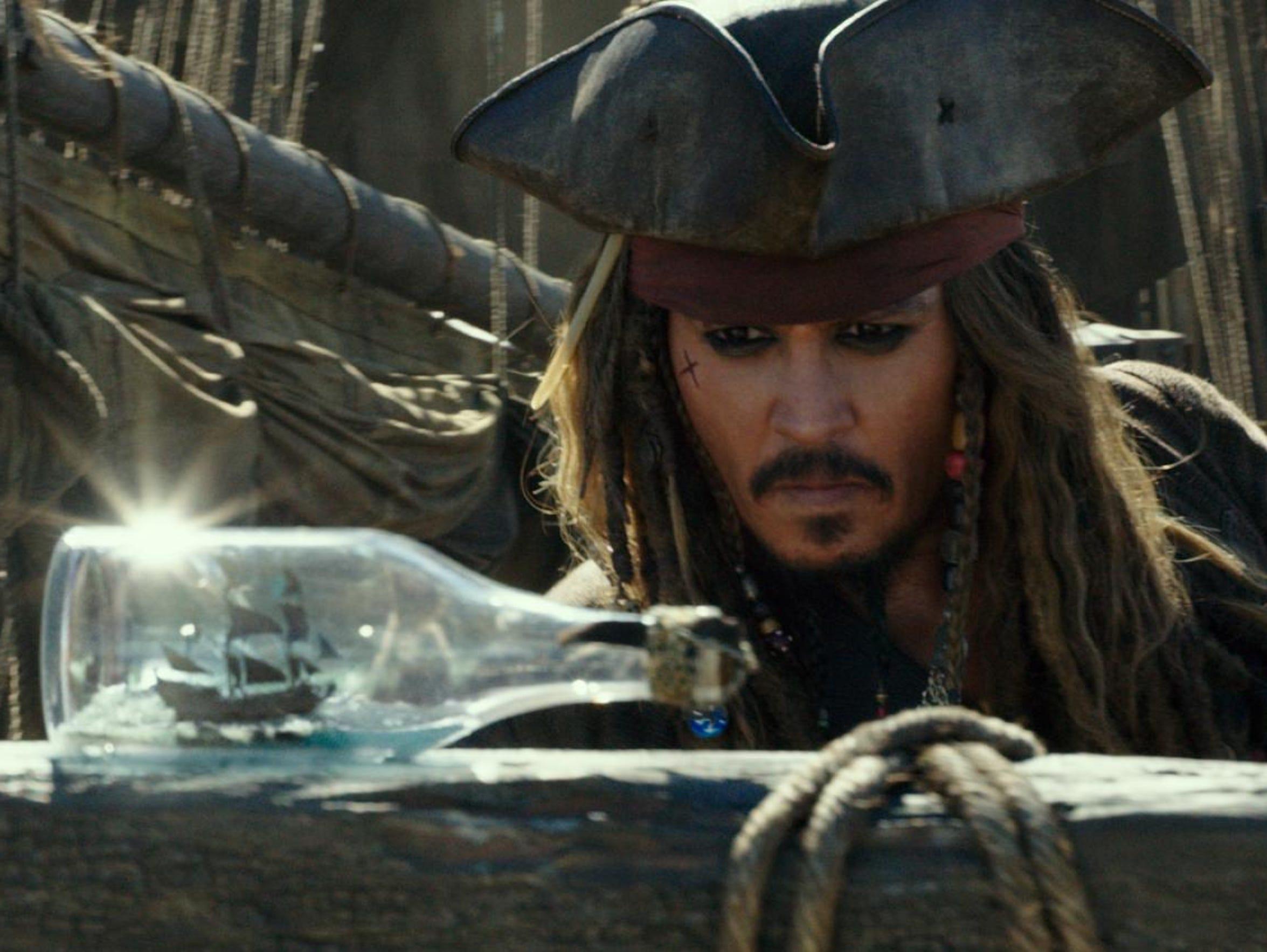 "Johnny Depp in ""Pirates of the Caribbean: Dead Men"