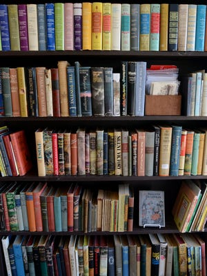 Shelves of books are filled Sunday, Nov. 1, at Waterway Books in Marine City.