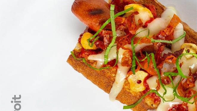 Detroit Beef City hot dog.